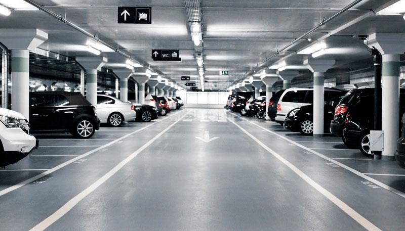 Подземная парковка в ЖК Парк Мира